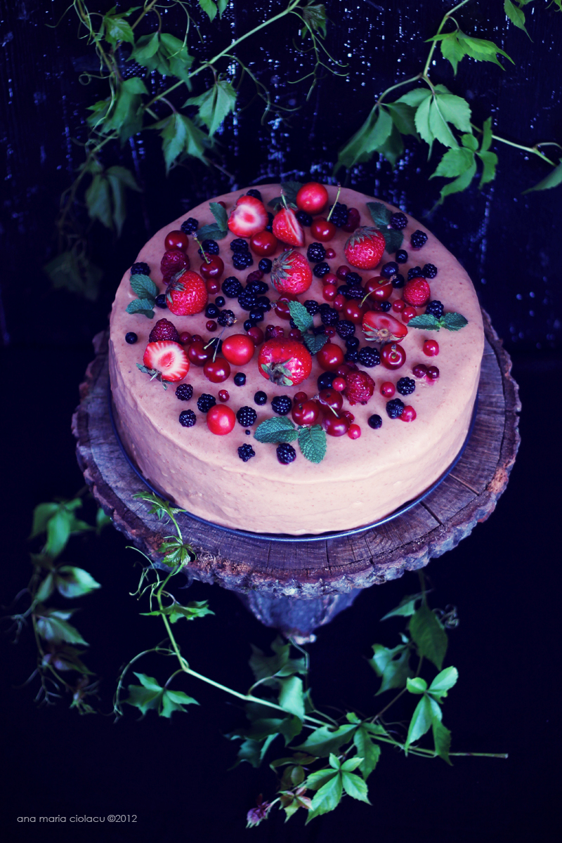 Cherry Berry Mousse Cake